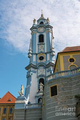 Durnstein Photograph - Blue Church Tower In Durnstein by Bob Phillips