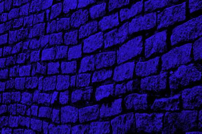Blue Cobblestone Print by Dana  Oliver