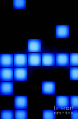 Blue Cubes Print by Brandon Tabiolo - Printscapes