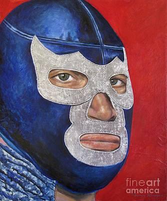 Blue Demon Jr Original by Nancy Almazan