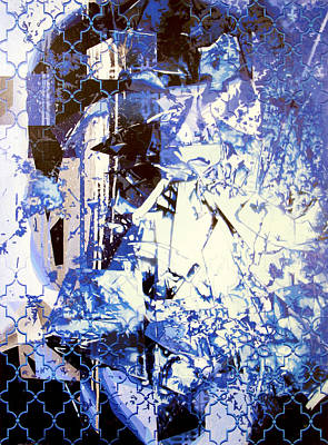 Pop Painting - Blue Discussion by Bobby Zeik