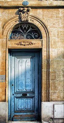 Blue Door In Sunlight Print by Georgia Fowler