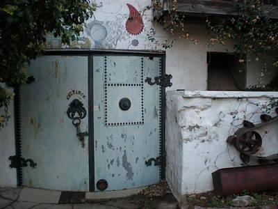 Feed Mill Photograph - Blue Door by Sheep McTavish
