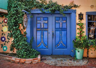 Casita Photograph - Blue Doors - Old Town - Albuquerque by Nikolyn McDonald