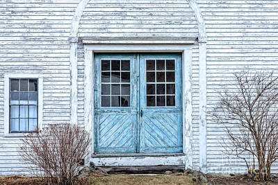 Blue Doors Print by Susan Cole Kelly