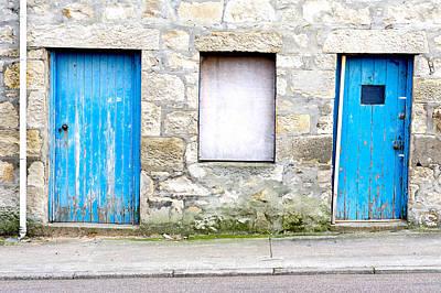 Blue Doors Print by Tom Gowanlock