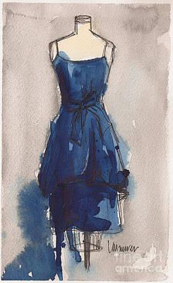 Blue Dress II Print by Lauren Maurer