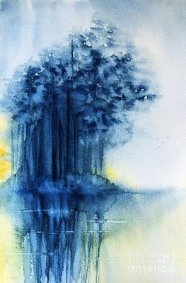 Sunset Painting - Blue Evening II by Rebecca Davis