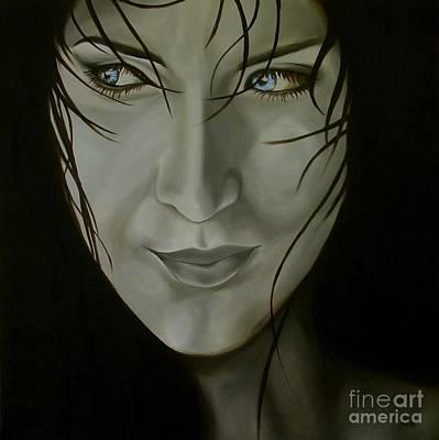 Blue-eyed Girl Original by Jindra Noewi