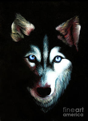 Wolf Face Painting - Blue Eyed Husky by Kristian Leov