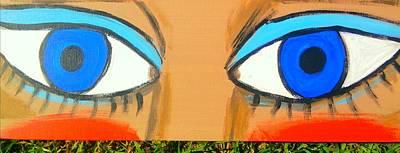 Blue Eyes Print by Charles  Jennison