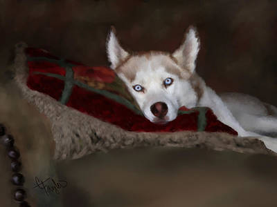 Blue Eyes Print by Colleen Taylor