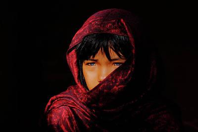 Vietnamese Female Model Photograph - Blue Eyes by Okan YILMAZ
