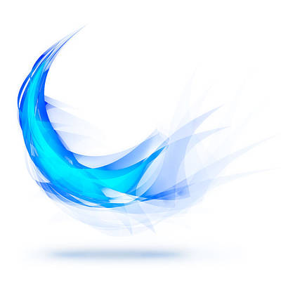 Curves Digital Art - Blue Feather by Setsiri Silapasuwanchai