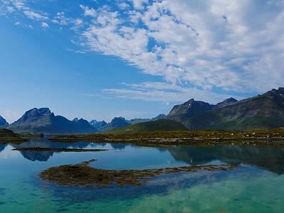 Blue Fjord Print by Tamara Sushko