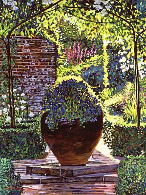 Blue Flowers Original by David Lloyd Glover