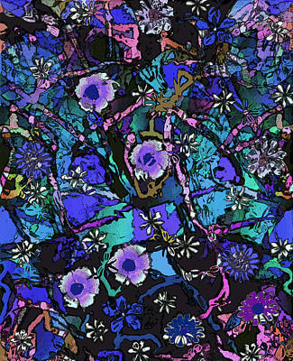Kiwi Mixed Media - Blue Garden by Natalie Holland