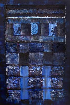 Abstracto Mixed Media - Blue Gate by Elena Petrova Gancheva