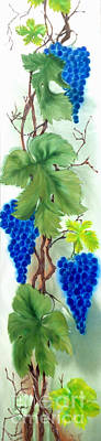 Blue Grape. Print by Angelina Roeders