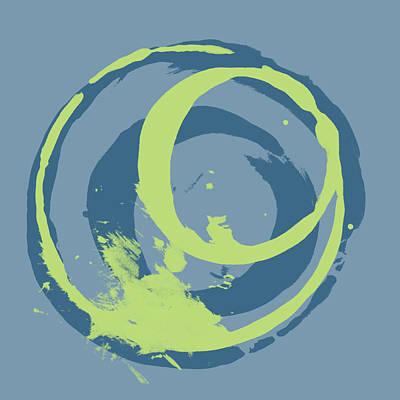 Blue Green 2 Print by Julie Niemela