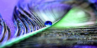 Peacock Mixed Media - Blue Gypsy by Krissy Katsimbras