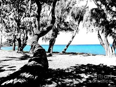 Blue Hawaii Sketch /paint 2 Print by Carl Gouveia