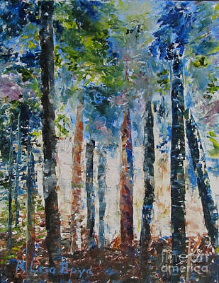 With Pallet Knife Painting - Blue Heaven by Lisa Boyd