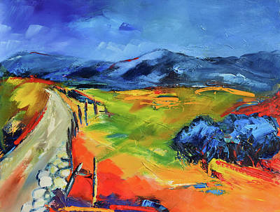 Fauvist Painting - Blue Hills By Elise Palmigiani by Elise Palmigiani