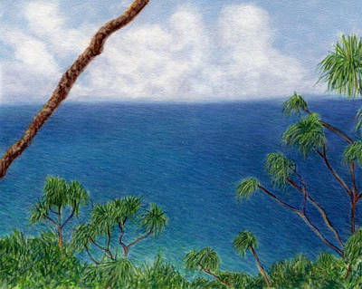 Blue Horizon Print by Kenneth Grzesik