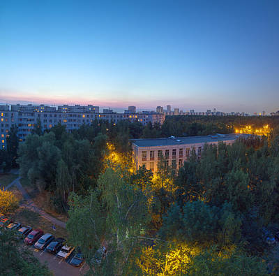 Moscow Photograph - Blue Hour by Alexey Kljatov