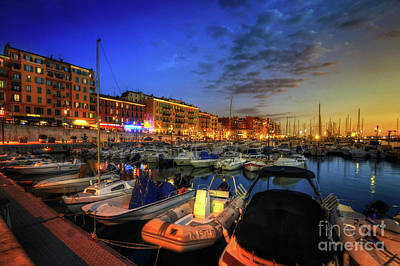 Blue Hour At Port Nice 1.0 Print by Yhun Suarez