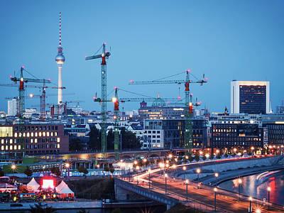 Berlin Photograph - Blue Hour In Berlin by Alexander Voss
