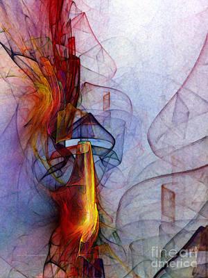 Contemporary Abstract Digital Art - Blue Hour by Karin Kuhlmann