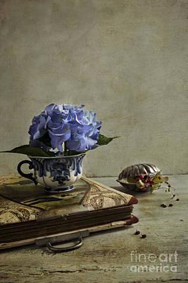 Blue Hydrangea Print by Elena Nosyreva