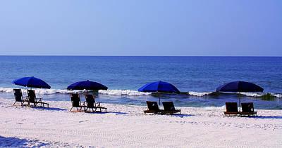 Seascape Photograph - Blue Idyll by Barbara Teller