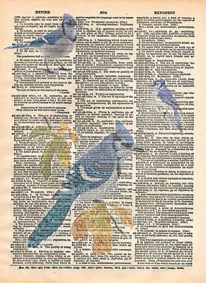 Bluejay Mixed Media - Blue Jay Expire by Marcus  Jules