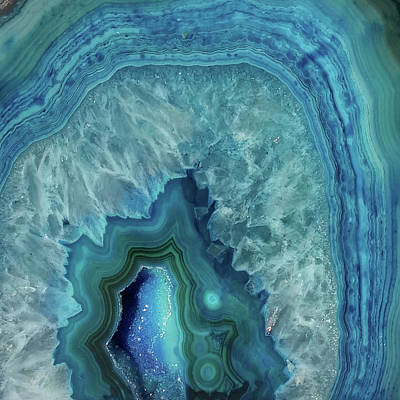 Blue Jewel Print by Suzanne Carter