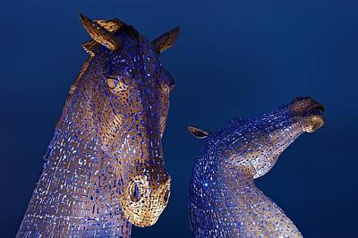 Kelpie Digital Art - Blue Kelpies by Stephen Taylor
