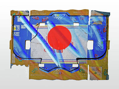 Kimono Painting - Blue Kimono by Charles Stuart