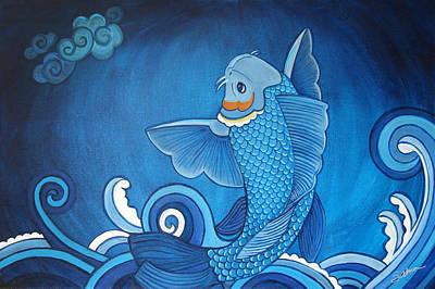 Blue Koi Original by Sabina Espinet