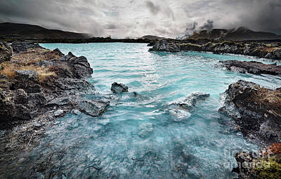 Waterscape Mixed Media - Blue Lagoon by Svetlana Sewell
