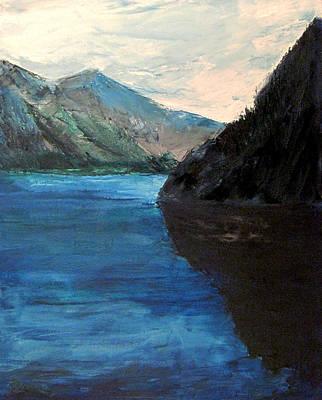 Sitka Painting - Blue Lake by Richard Beauregard