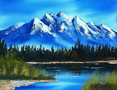 Blue Lake Print by Roy Gould
