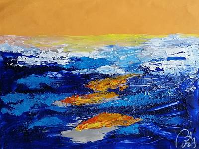 Blue Landscape Iv Original by Bachmors Artist