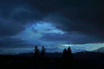 Photograph - Blue Light Special by Jeremy Rhoades