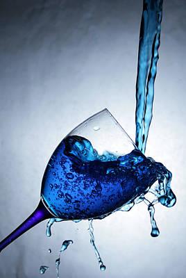 Blue Liquid Print by Jan Boesen