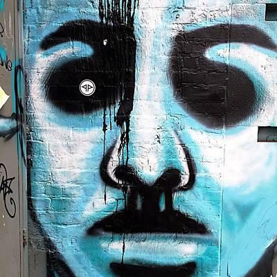 Blue Man Print by JoAnn Lense