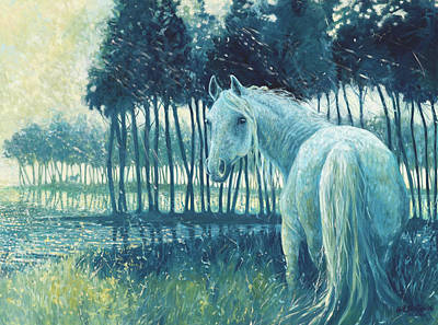 Blue Mare Print by Gill Bustamante