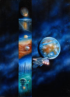 Painting - Blue Mars by Don Dixon