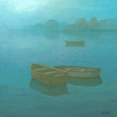 Calm Painting - Blue Mist by Steve Mitchell